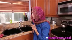 Timid Arabian Teenager Foreign Student Fucks Cock For First Time